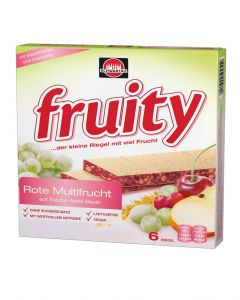 Fruity Fruchtriegel rote Multifrucht, 144 g